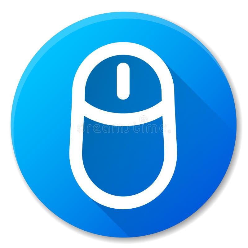 Icono azul del círculo del ratón del ordenador libre illustration