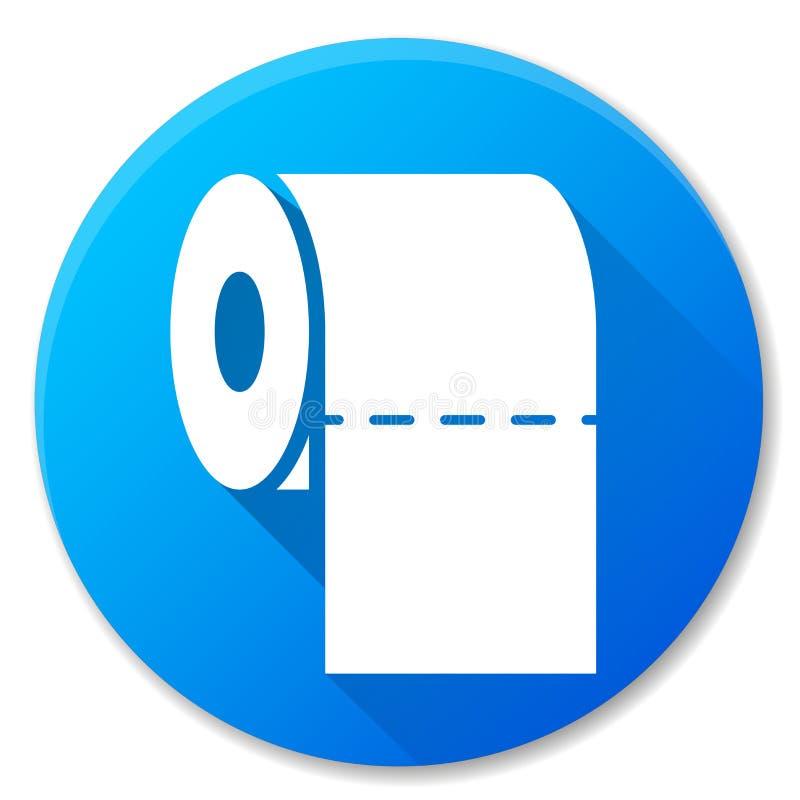 Icono azul del círculo del rollo de papel libre illustration