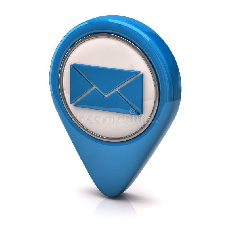 Icono azul del email libre illustration