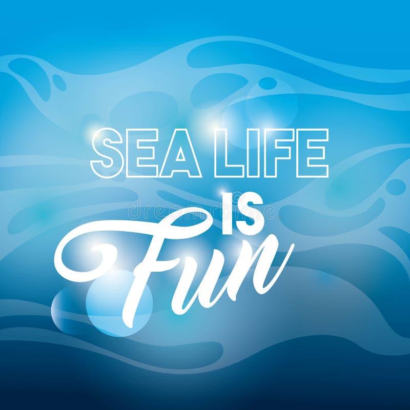 Icono azul del fondo Diseño de la vida marina Gráfico de vector libre illustration