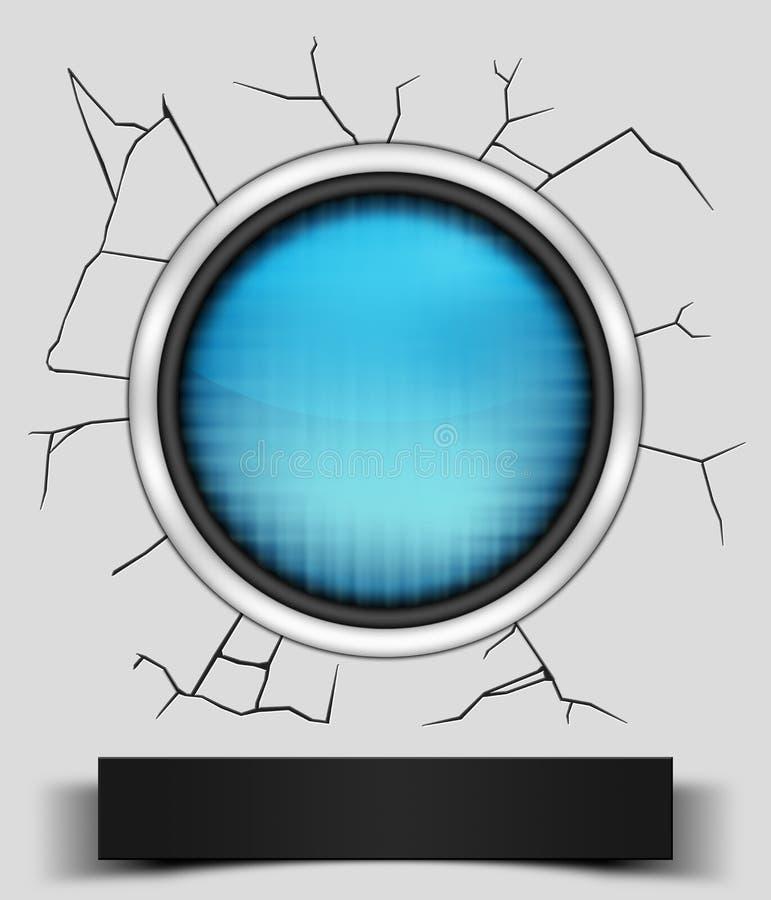 Icono azul roto libre illustration