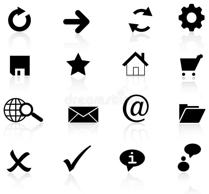 Icono básico del Web del vector ilustración del vector