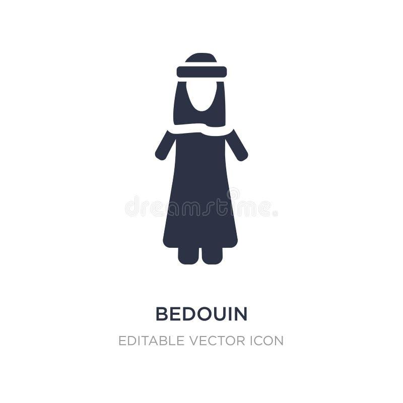 icono beduino en el fondo blanco Ejemplo simple del elemento del concepto de la gente ilustración del vector
