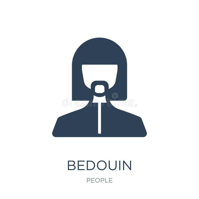 icono beduino en estilo de moda del diseño icono beduino aislado en el fondo blanco símbolo plano simple y moderno del icono bedu stock de ilustración
