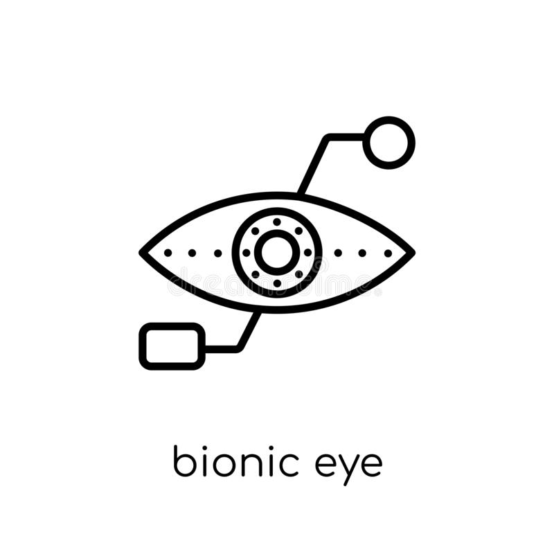 Icono biónico del ojo  libre illustration