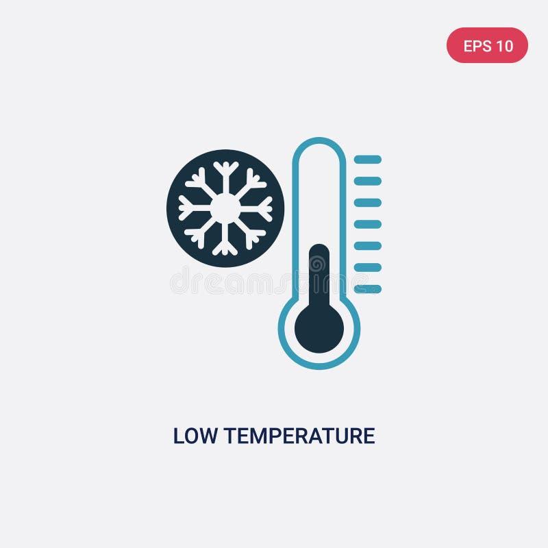 Icono bicolor del vector de la baja temperatura del concepto del establecimiento de una red el símbolo azul aislado de la muestra stock de ilustración