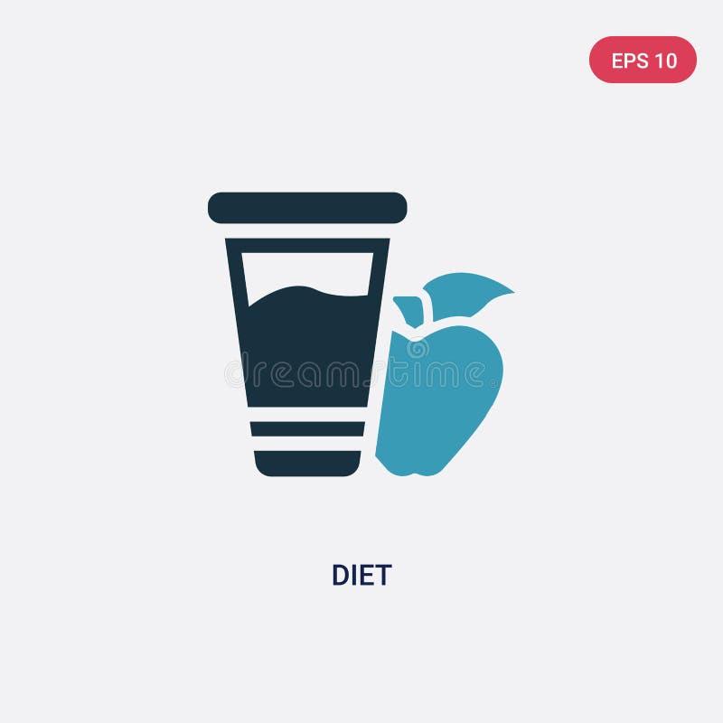 Icono bicolor del vector de la dieta del concepto de la religión el símbolo azul aislado de la muestra del vector de la dieta pue stock de ilustración