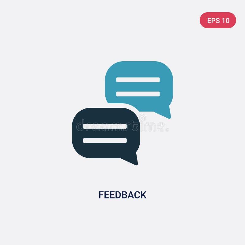 Icono bicolor del vector de la reacción del concepto de comercialización de los medios sociales el símbolo azul aislado de la mue libre illustration