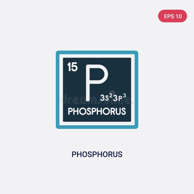 Icono bicolor del vector del fósforo del concepto de las formas el símbolo azul aislado de la muestra del vector del fósforo pued stock de ilustración
