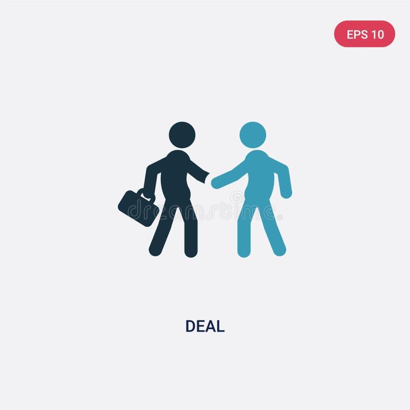 Icono bicolor del vector del trato del concepto de la estrategia el s?mbolo azul aislado de la muestra del vector del trato puede libre illustration