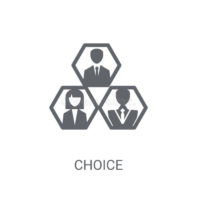 Icono bien escogido Concepto bien escogido de moda del logotipo en el fondo blanco de stock de ilustración
