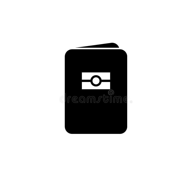 Icono biométrico del pasaporte Muestra de la identificación del ciudadano del estado ilustración del vector
