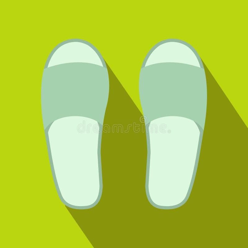 Icono blanco de los deslizadores del balneario libre illustration