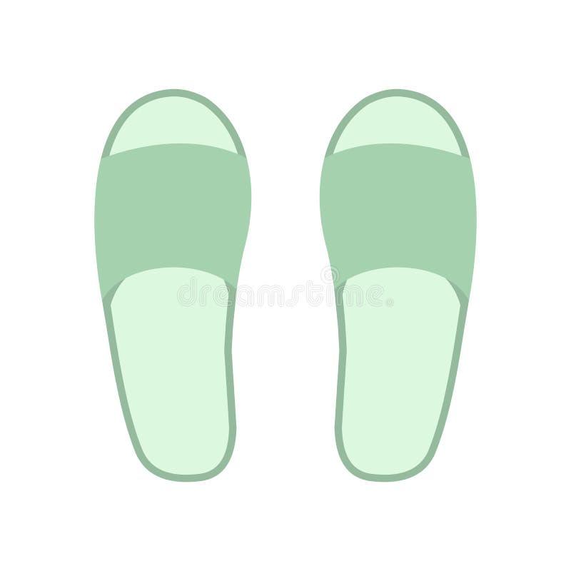 Icono blanco de los deslizadores del balneario stock de ilustración