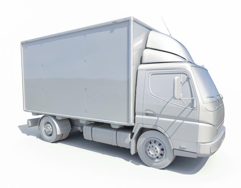 icono blanco del camión de reparto 3d fotografía de archivo
