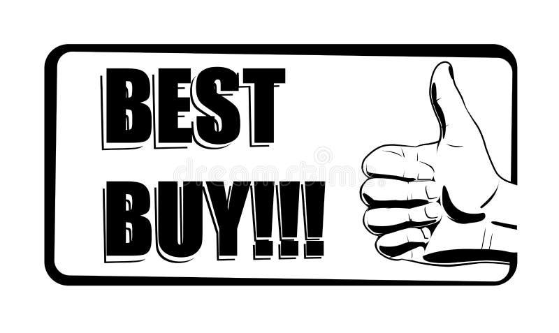 Icono blanco y negro de la mejor compra stock de ilustración