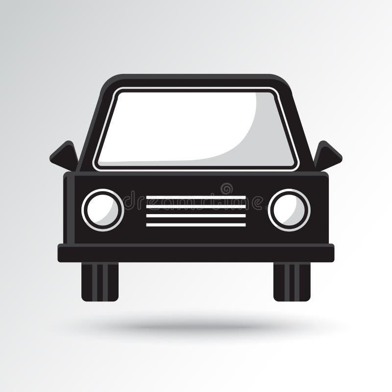 Icono blanco y negro del coche Ilustraci?n del vector libre illustration