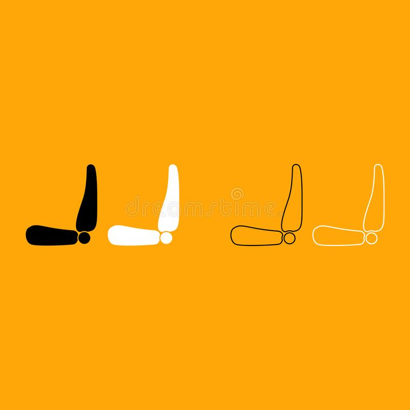 Icono blanco y negro del sistema del asiento de carro stock de ilustración