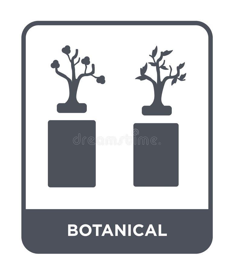 icono botánico en estilo de moda del diseño icono botánico aislado en el fondo blanco plano simple y moderno del icono botánico d ilustración del vector