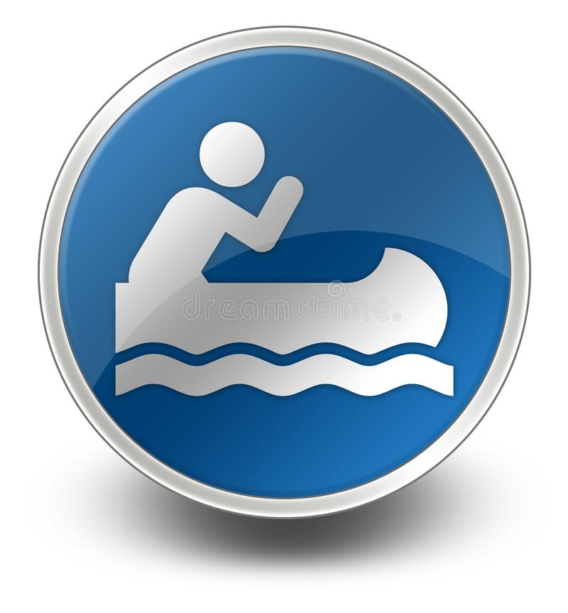 Icono, botón, el Canoeing del pictograma