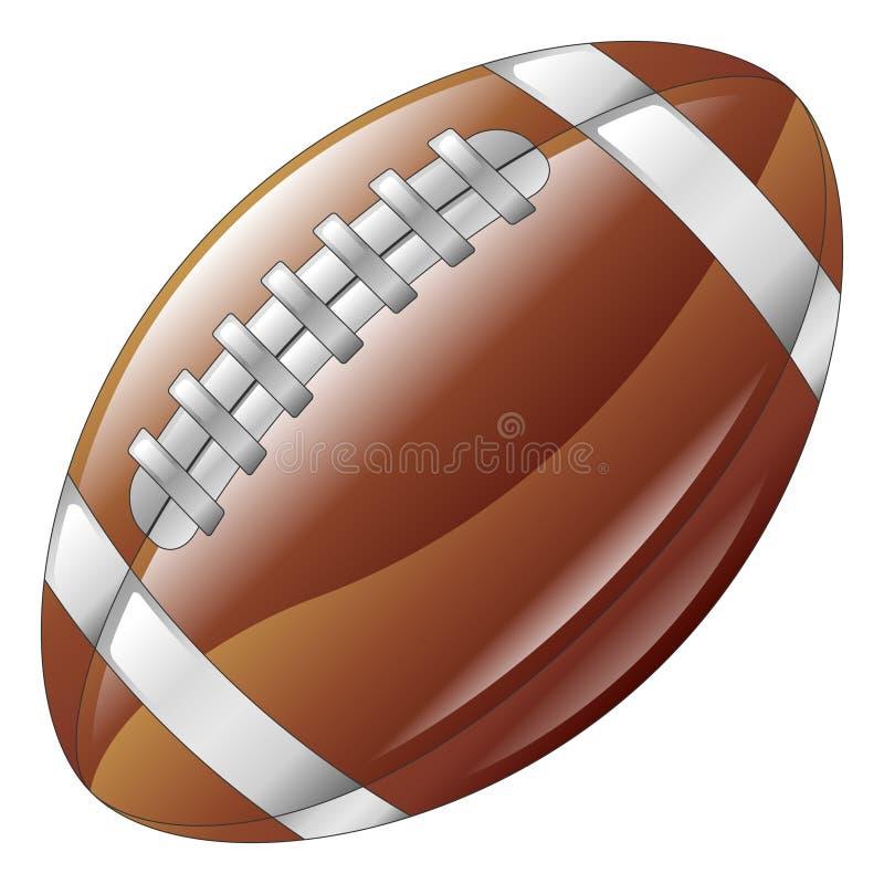 Icono brillante brillante de la bola del fútbol americano stock de ilustración