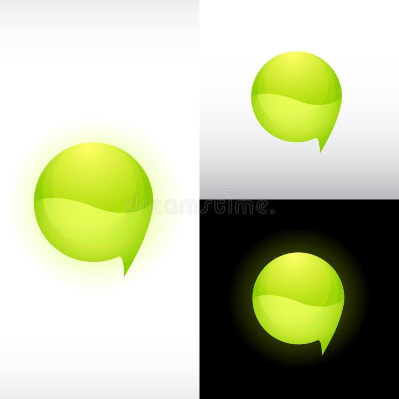 Icono brillante de la esfera ilustración del vector