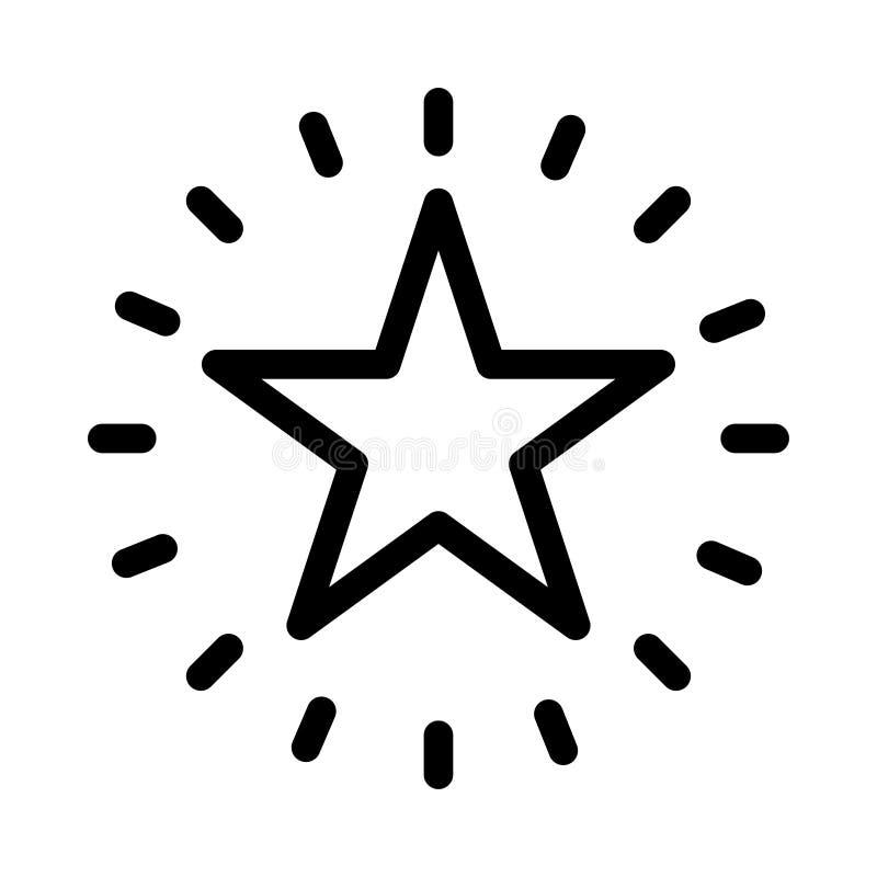 Icono brillante de la estrella stock de ilustración