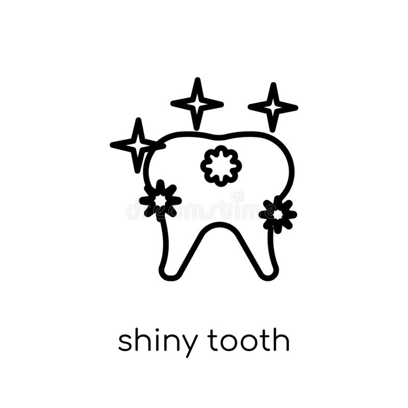 Icono brillante del diente  libre illustration