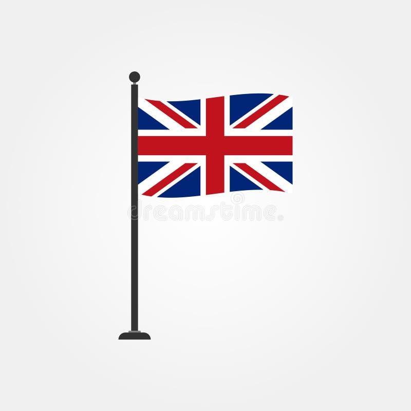Icono británico 4 de la bandera del vector común stock de ilustración