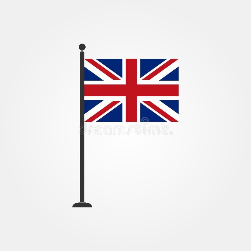 Icono británico 3 de la bandera del vector común libre illustration