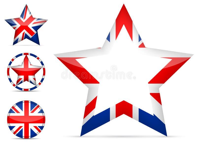 Icono británico de la estrella stock de ilustración
