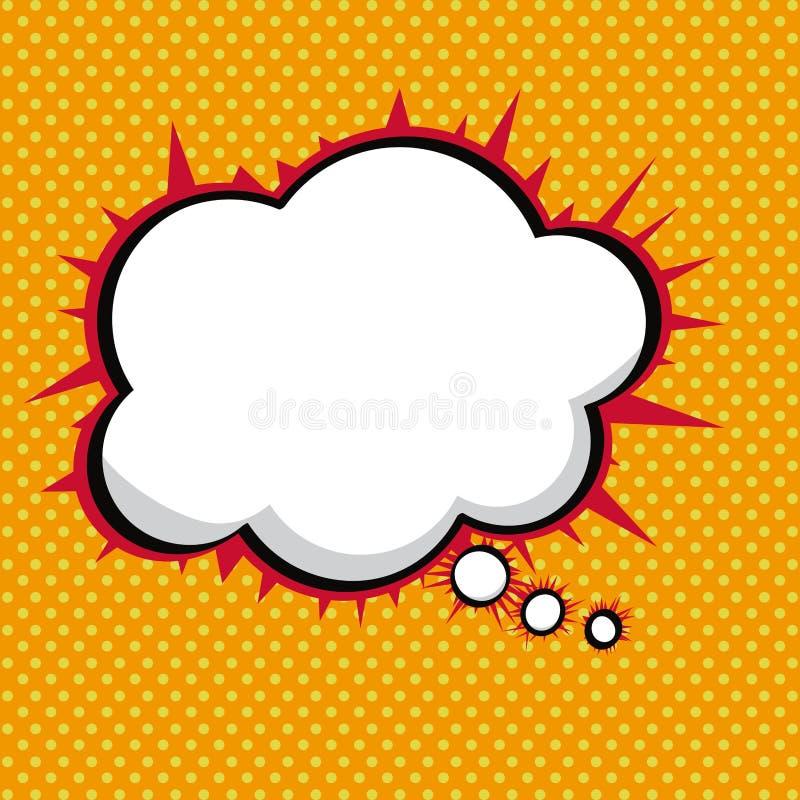 Icono cómico de discurso ilustración del vector
