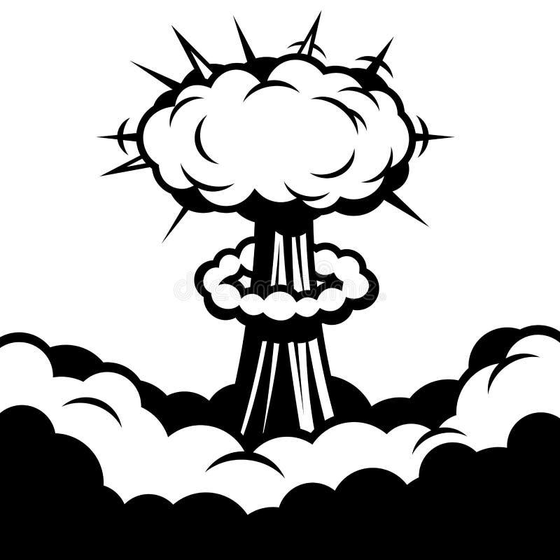 Icono cómico del auge Explosión Vector stock de ilustración