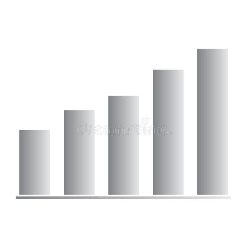 Icono cada vez mayor de la barra de la carta en el fondo blanco Estilo plano icono cada vez mayor para su diseño del sitio web, l ilustración del vector
