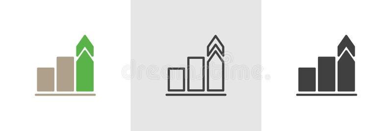Icono cada vez mayor de la carta ilustración del vector