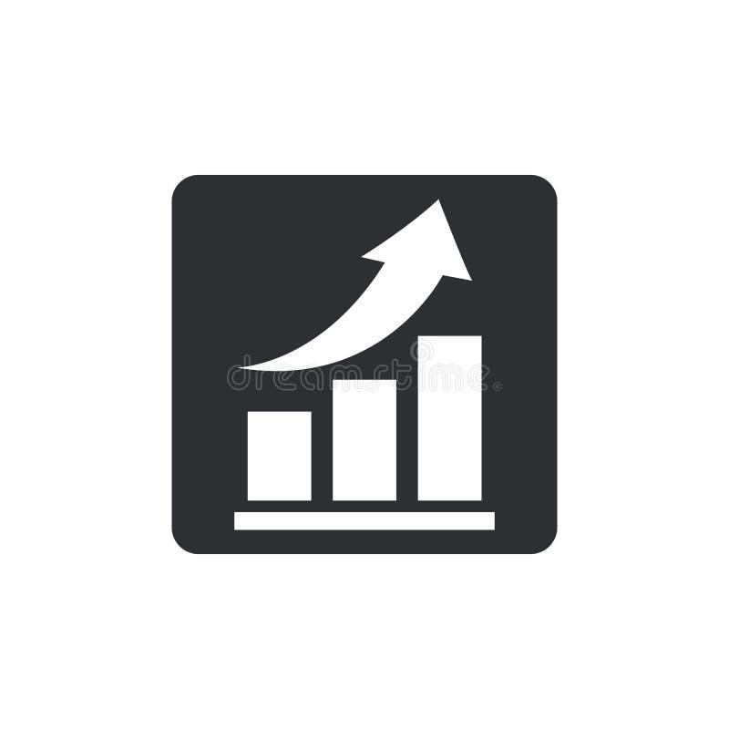 Icono cada vez mayor del gráfico del vector Carta de Infographic libre illustration