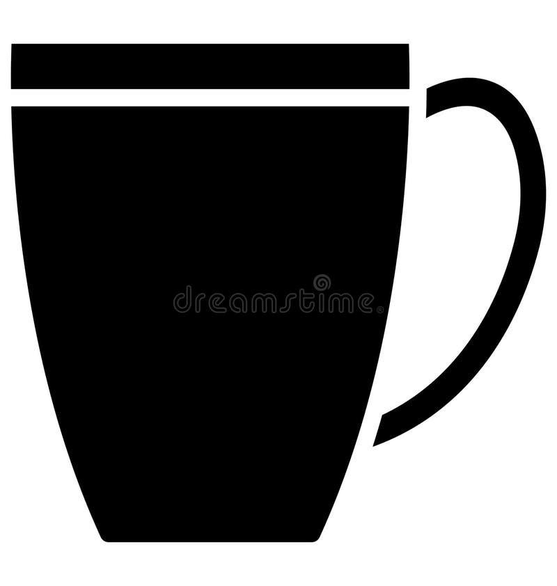 Icono caliente del ejemplo del vector del té que puede ser modificado o corregir fácilmente en cualquier icono caliente del ejemp ilustración del vector