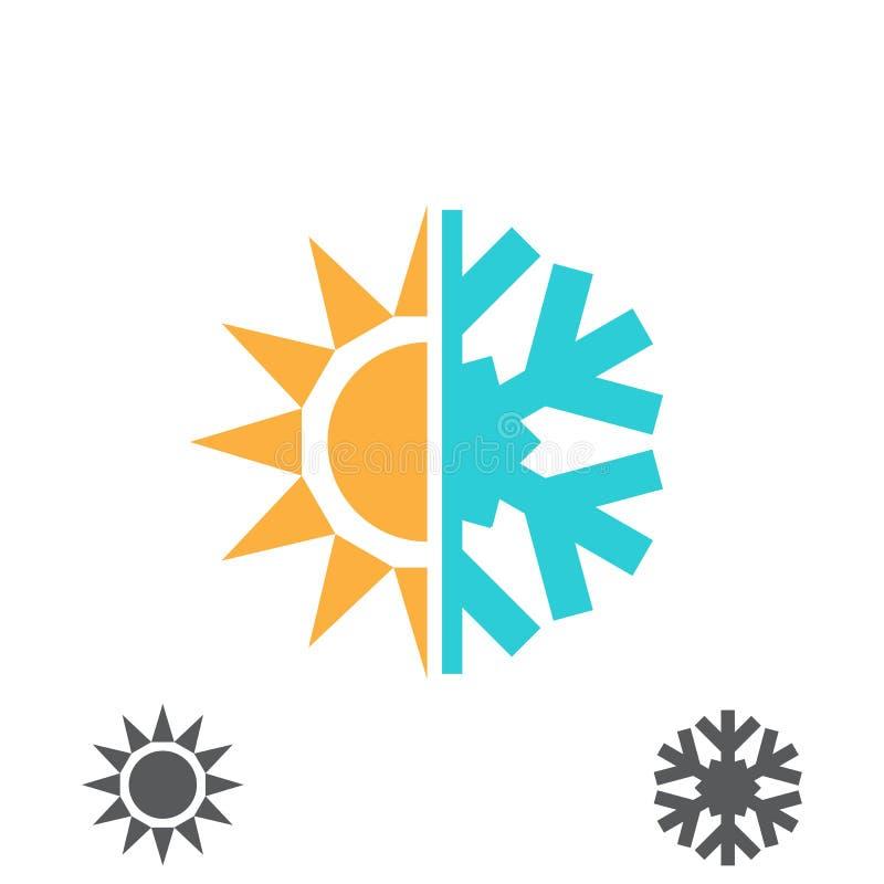 Icono caliente y frío stock de ilustración