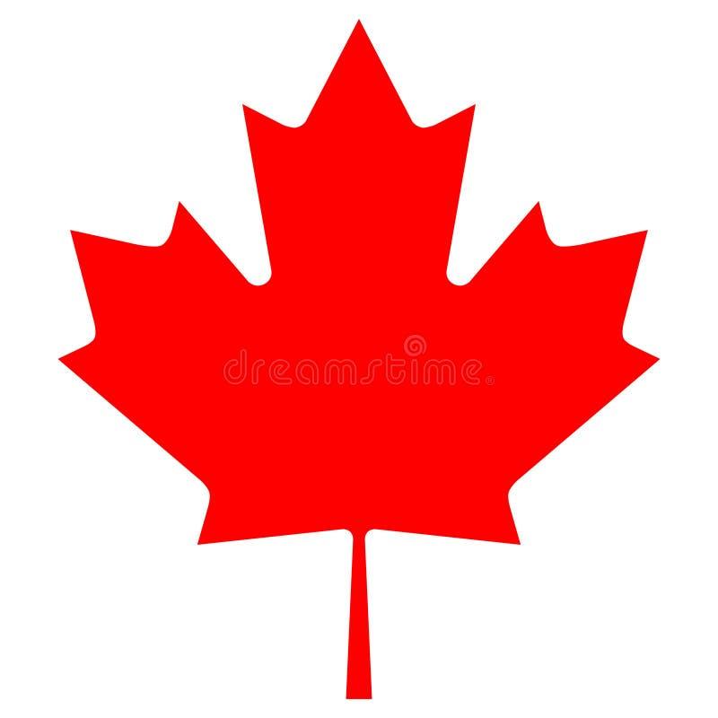Icono canadiense de la hoja de arce del vector ilustración del vector