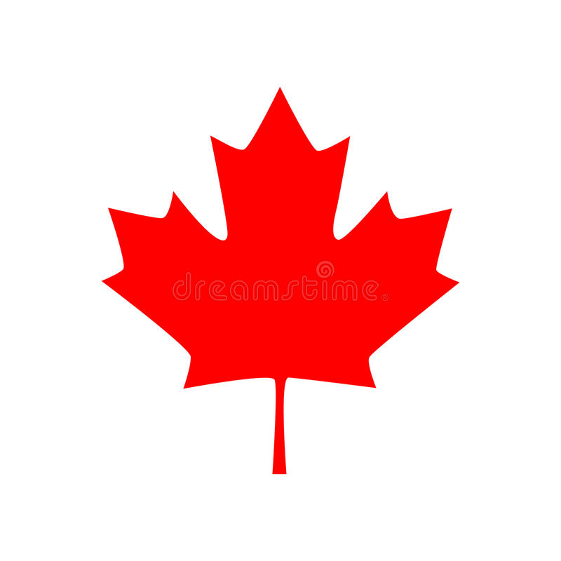 Icono canadiense de la hoja de arce Ilustración del vector libre illustration