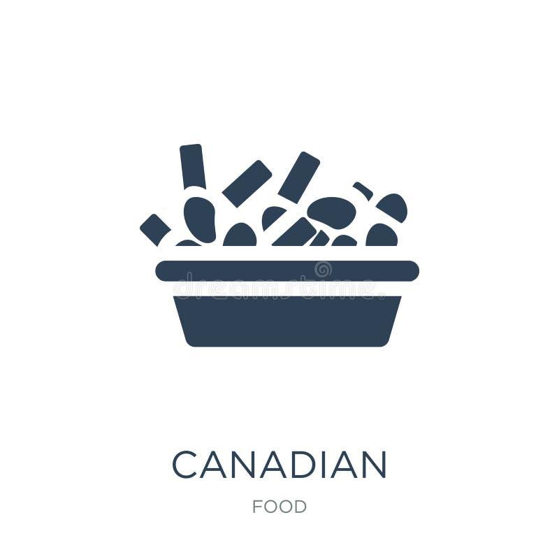 icono canadiense en estilo de moda del diseño icono canadiense aislado en el fondo blanco plano simple y moderno del icono canadi ilustración del vector