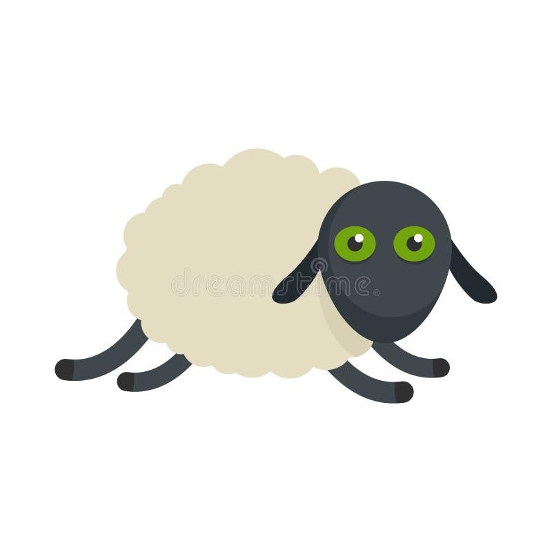 Icono cansado de las ovejas, estilo plano stock de ilustración