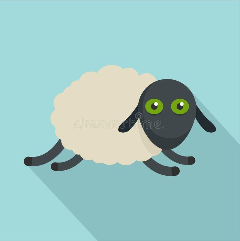 Icono cansado de las ovejas, estilo plano libre illustration