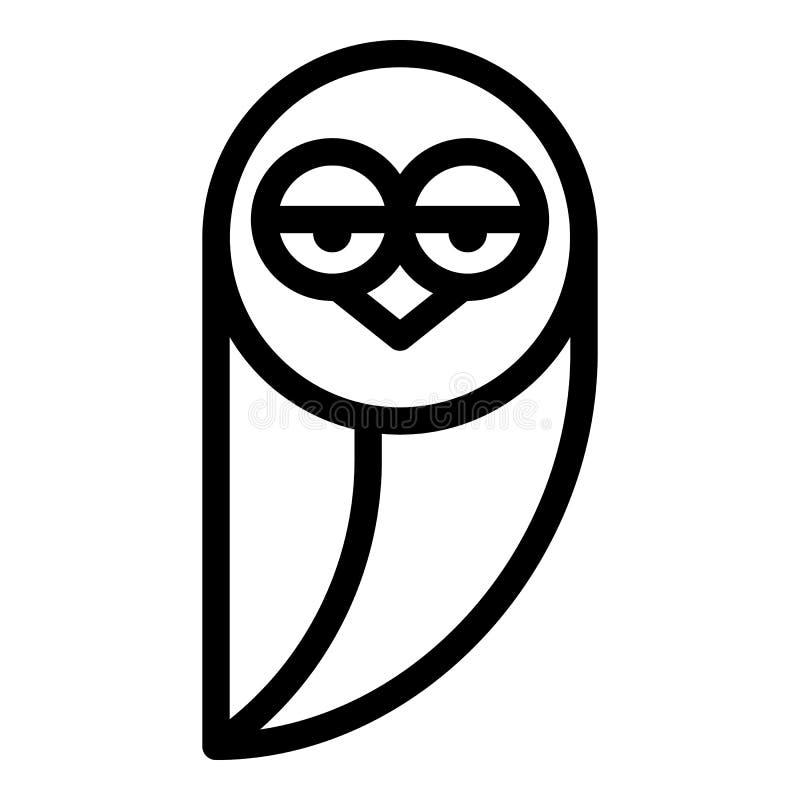 Icono cansado del búho, estilo del esquema ilustración del vector