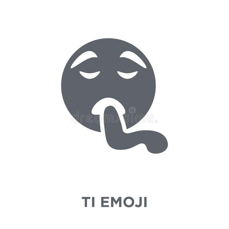 Icono cansado del emoji de la colección de Emoji stock de ilustración