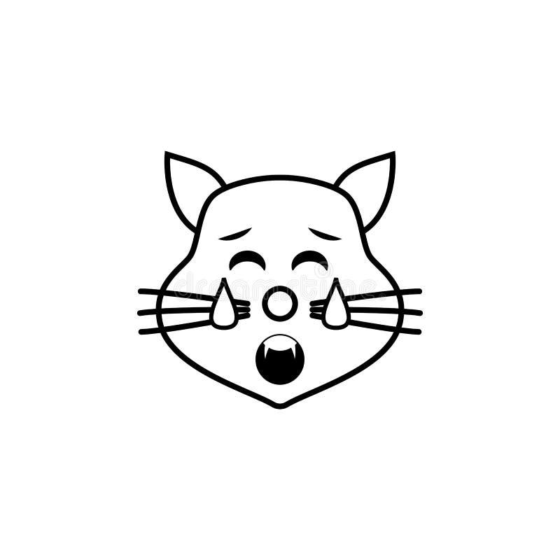 icono cansado del gato Sistema detallado de avatares de los iconos de las profesiones Línea superior diseño gráfico de la calidad stock de ilustración