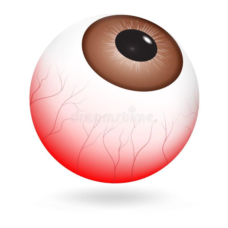 Icono cansado del globo del ojo, estilo realista libre illustration