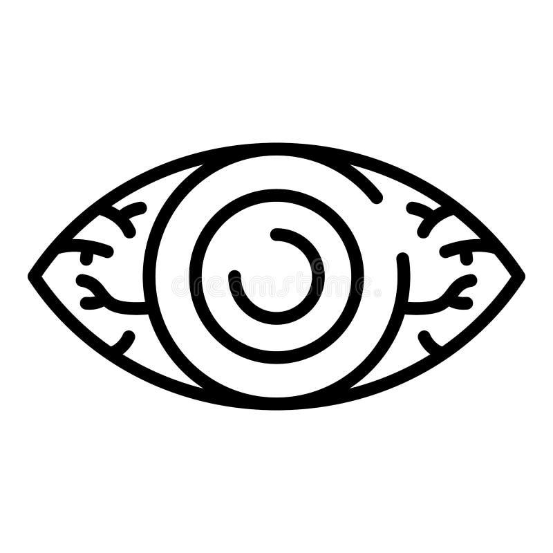 Icono cansado del ojo, estilo del esquema stock de ilustración