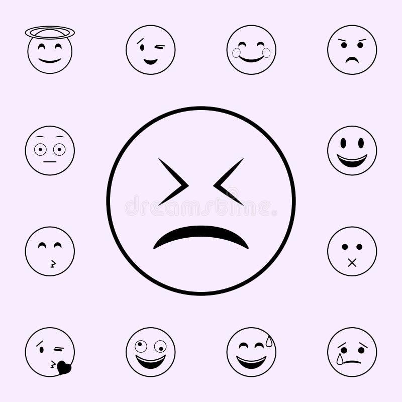 icono cansado Sistema universal de los iconos de Emoji para la web y el m?vil libre illustration
