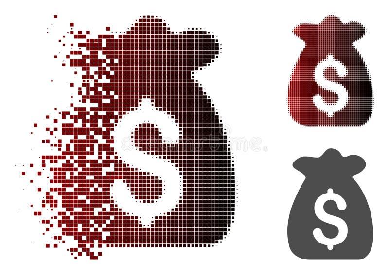 Icono capital financiero de semitono quebrado de Pixelated libre illustration
